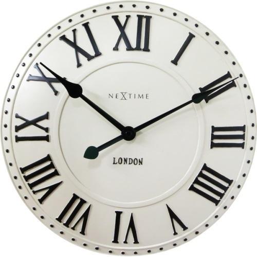 Designové nástěnné hodiny 3083wi Nextime v anglickém retro stylu 35cm