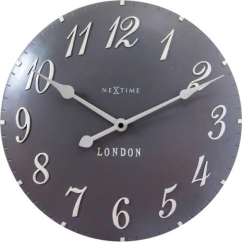 Designové nástěnné hodiny 3084gs Nextime v aglickém retro stylu 35cm