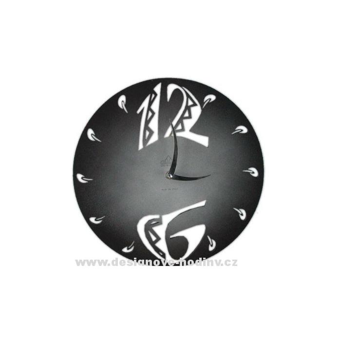Nástěnné hodiny 1503M Calleadesign 45cm Barva černá