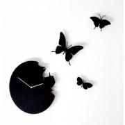 Designové hodiny Diamantini & Domeniconi Butterfly black 40cm