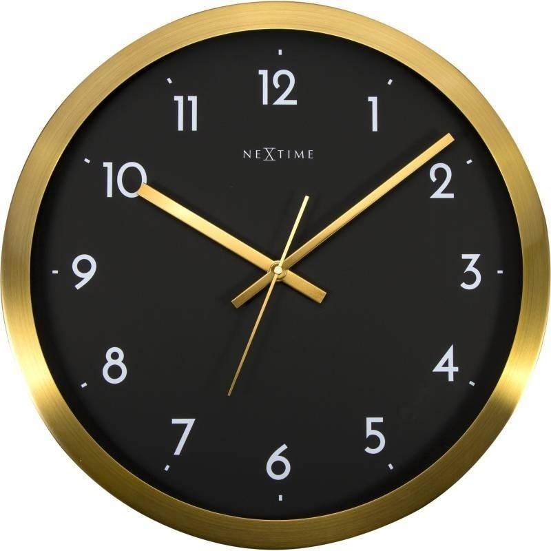 Nástěnné hodiny 2523gb Nextime Arabic Golg Black 45cm