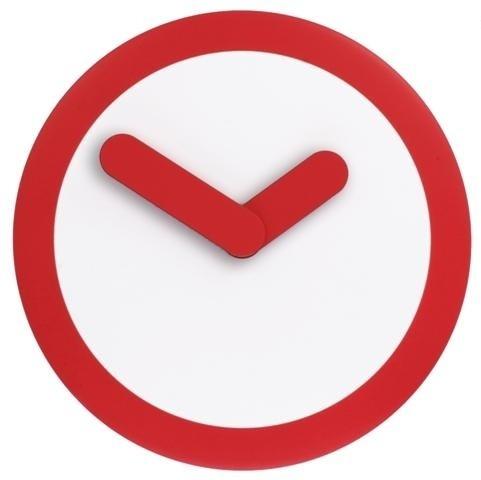 Nástěnné hodiny 2615ro Nextime Stripey red 25cm