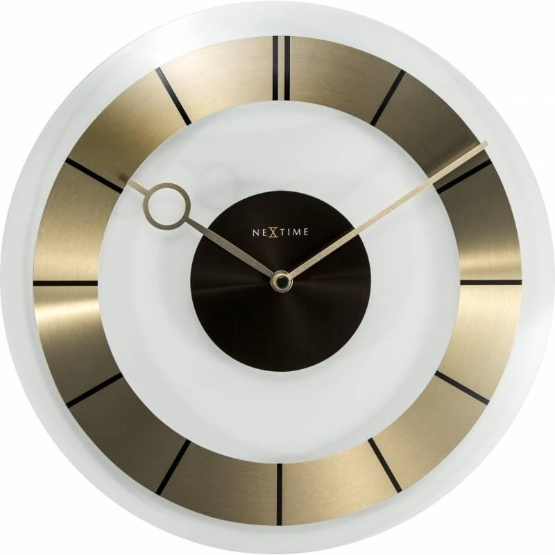 Nástěnné hodiny 2790go Nextime Retro Gold 31cm
