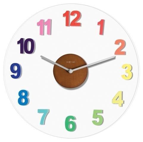 Nástěnné hodiny 2974di Nextime Woody colour 39cm
