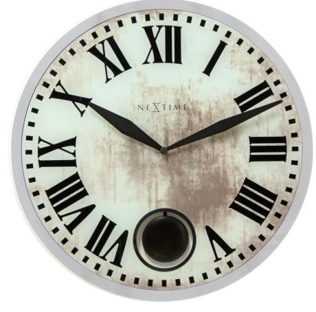 Designové nástěnné kyvadlové hodiny 8162 Nextime Romana 43cm