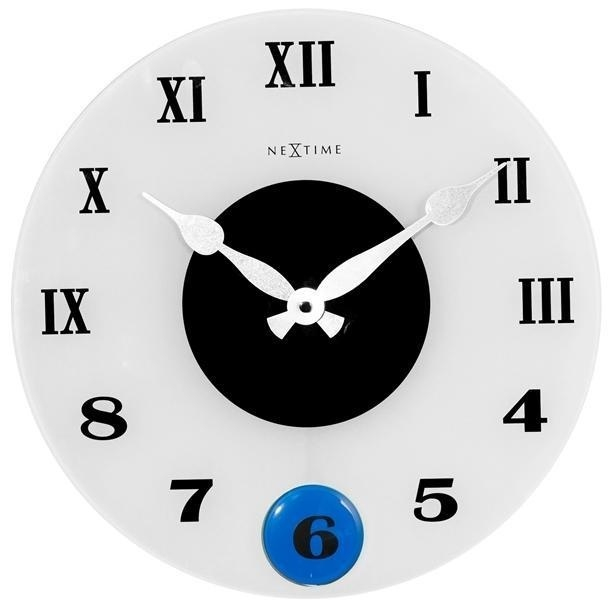 Designové nástěnné kyvadlové hodiny 8635 Nextime Milano Color 35cm