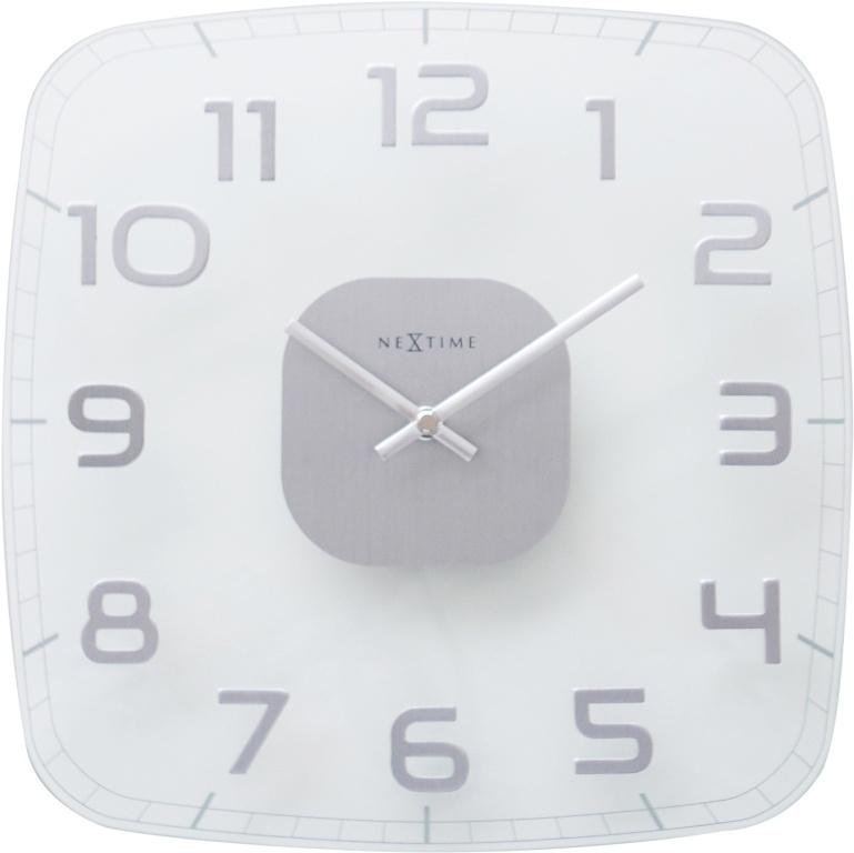 Designové nástěnné hodiny 8816tr Nextime Classy square 30cm
