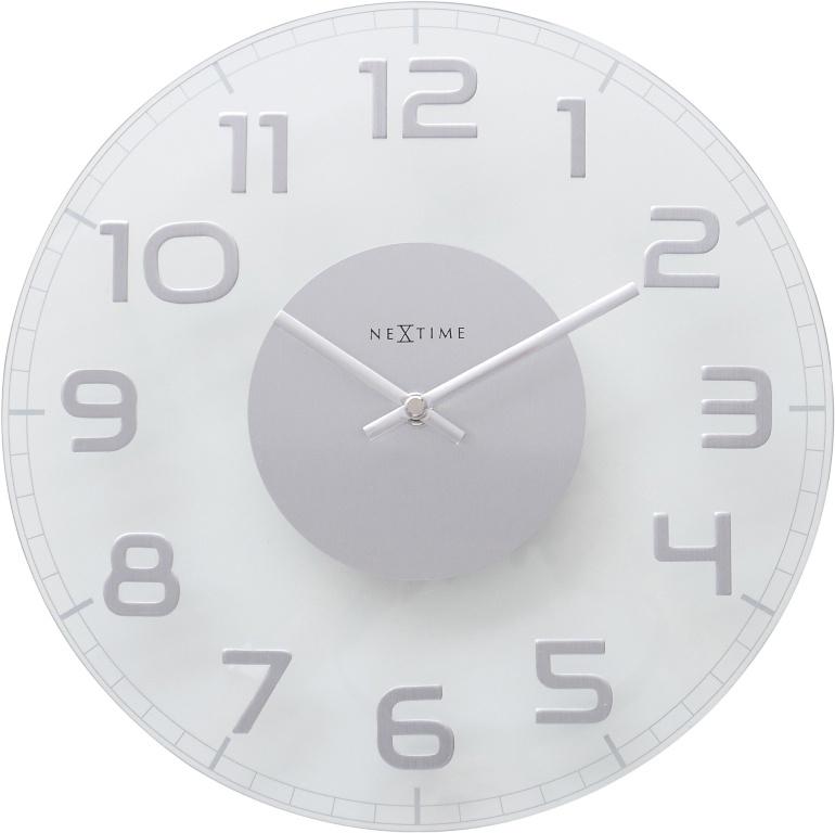 Designové nástěnné hodiny 8817tr Nextime Classy round 30cm