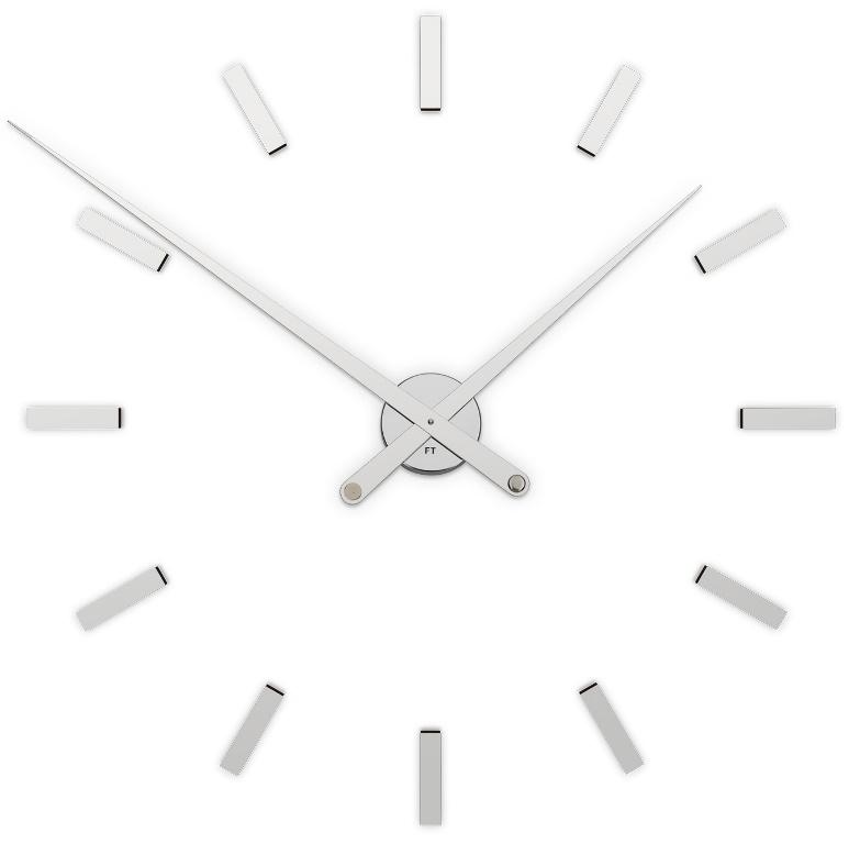 Designové nalepovací hodiny Future Time FT9100SI Modular chrome 85cm