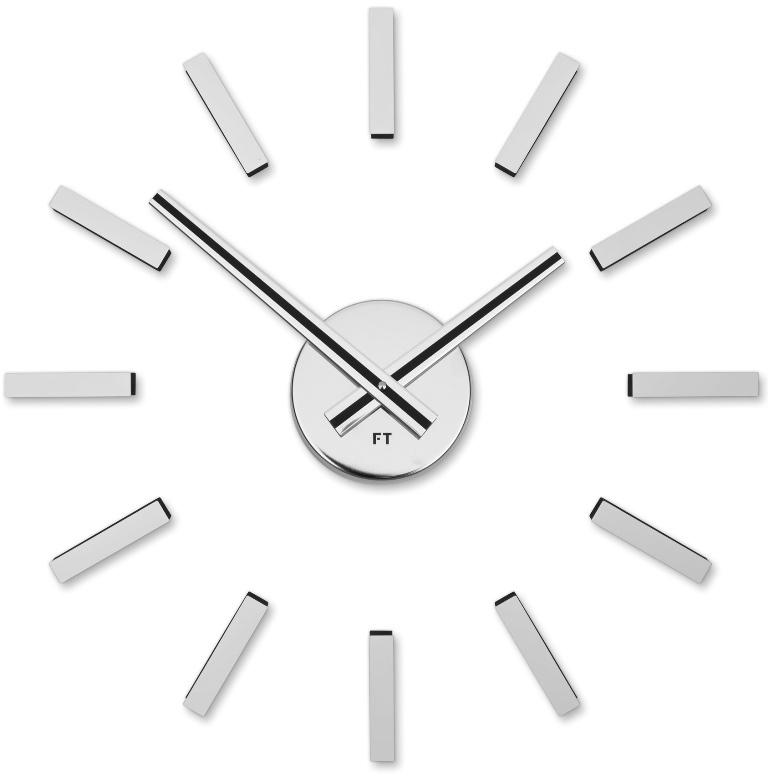 Nalepovací hodiny Future Time FT9400SI Modular chrome 40cm