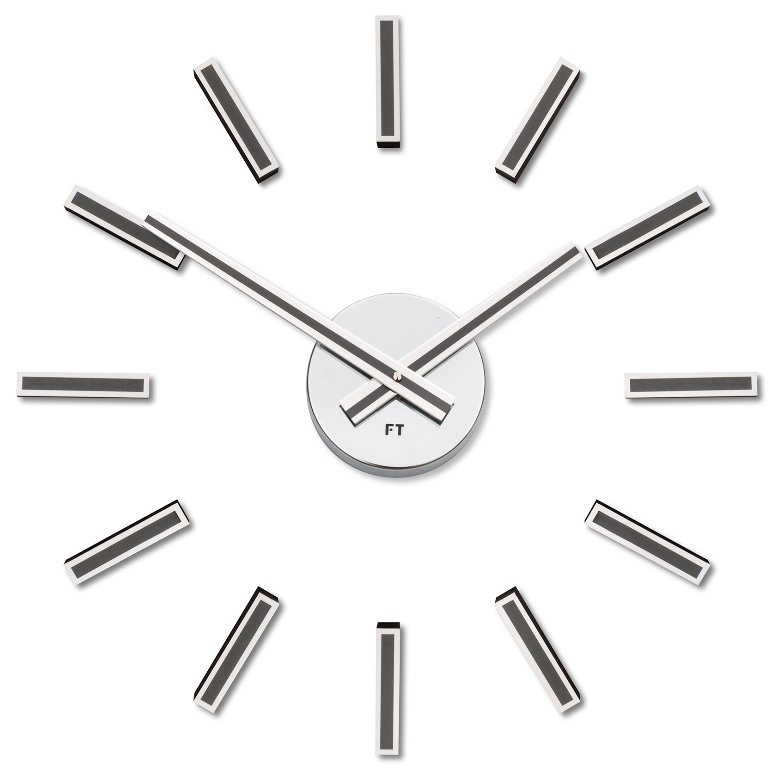 Nalepovací hodiny Future Time FT9400TT Modular titanium grey 40cm