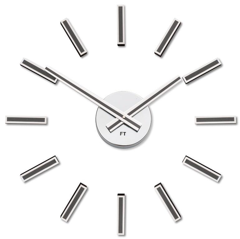 Designové nalepovací hodiny Future Time FT9400TT Modular titanium grey 40cm