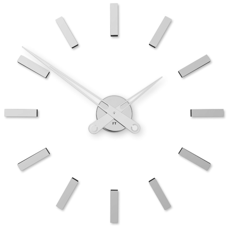 Nalepovací hodiny Future Time FT9600SI Modular chrome 60cm