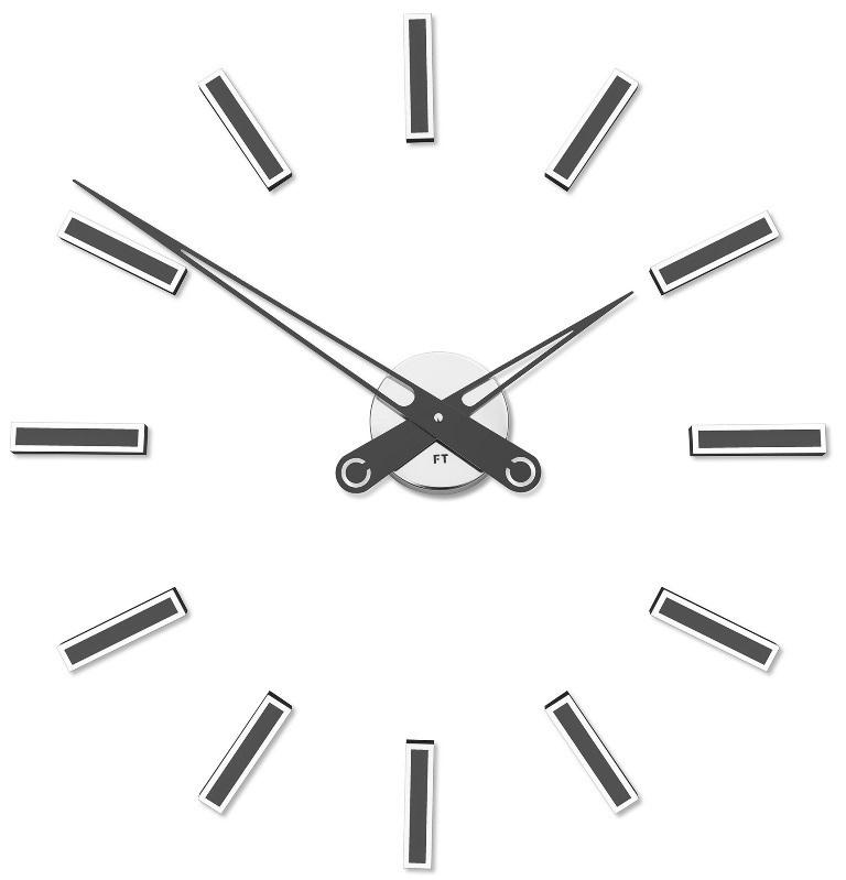 Nalepovací hodiny Future Time FT9600TT Modular titanium grey 60cm