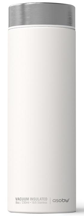 ASOBU luxusní termoska Le Baton white/silver 500ml