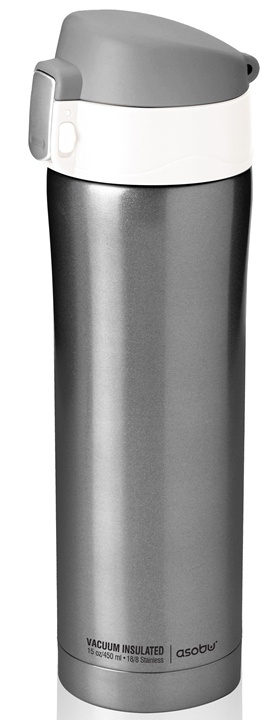 ASOBU dámská trendy termoska Diva smoke&white 450ml